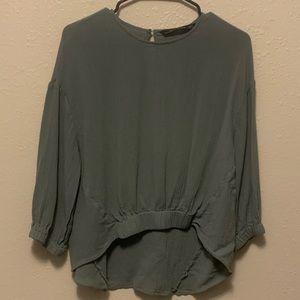 Green Zara Women Blouse